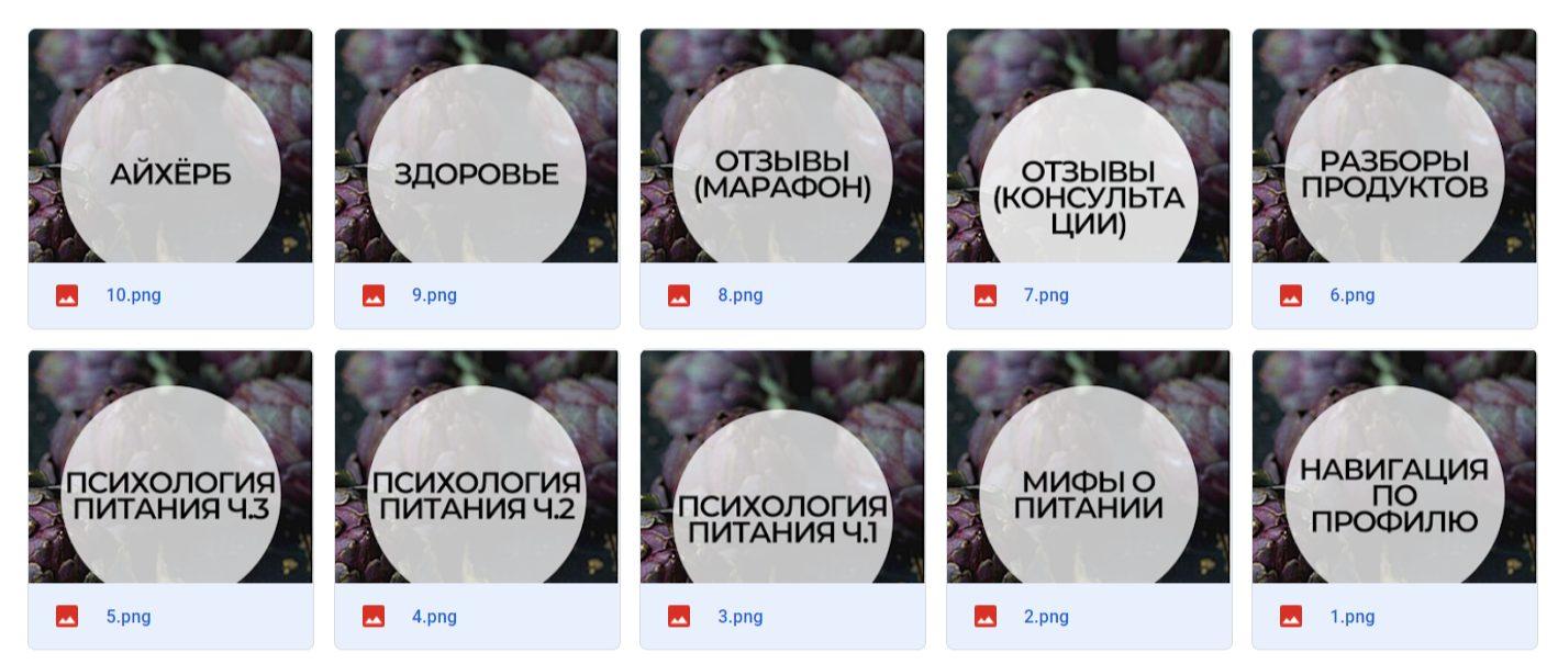 Иконки актуального